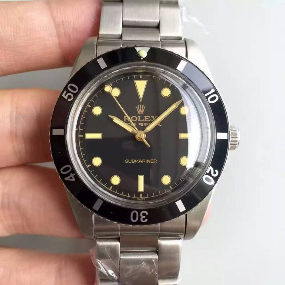 Replica Rolex Submariner 6538 Big Crown Lf Stainless Steel Black