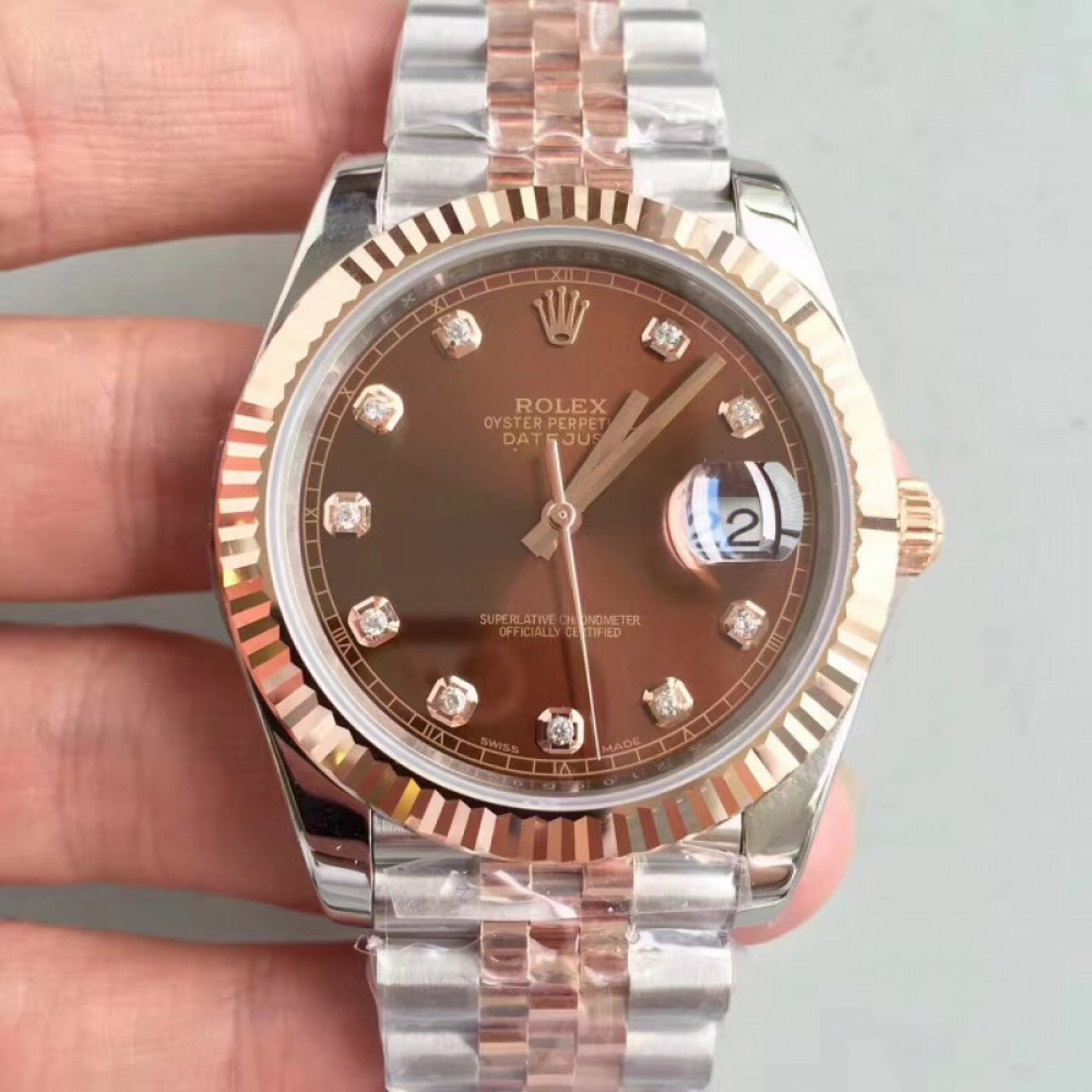 be8b91f4f48 Replica Rolex Datejust II 116333 41MM N Stainless Steel   18K Rose Gold  Wrapped Chocolate Dial Swiss 3235  C7YLeF  - £483.29