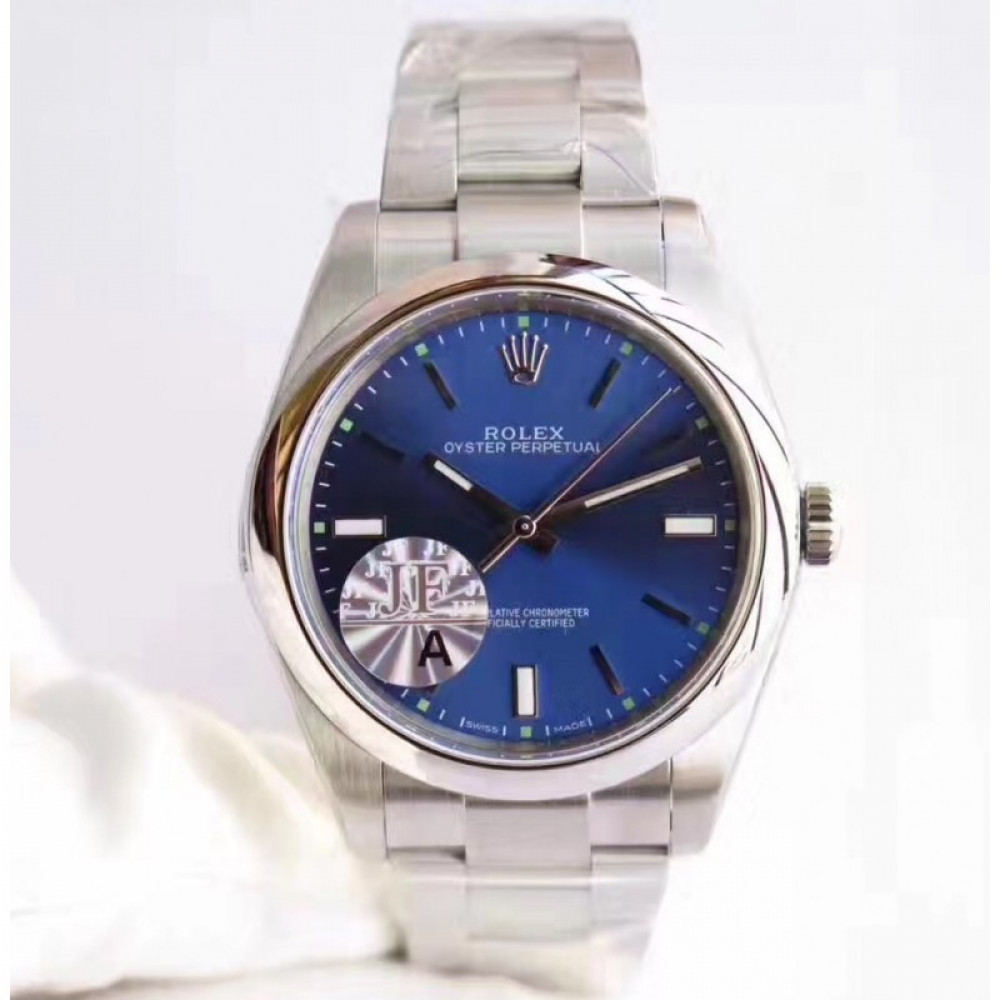 c6c2b5cdbb9 Replica Rolex Oyster Perpetual 39 114300 JF Stainless Steel Blue Dial Swiss  3132  5t4N6r  - £293.91